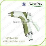 (84492) Plastic garden cleaning tool TPR covered garden water gun irrigational metal nozzle jet water washing