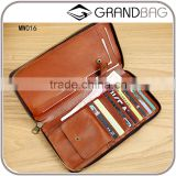 vintage style cowhide leather cell phone case wallet men clutch wallet with phone holder