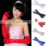 Chic Satin Party Prom Evening Wedding Bridal Stretchy Long Finger Women's Gloves
