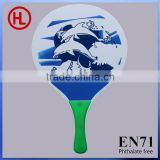 Dolphins logo popular custom TOP QUALITY Wooden Beach tennis racket/beach paddle rackets with beach ball set wholesale