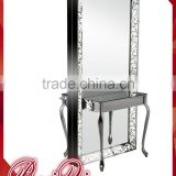 European Style Fashionable Beauty Salon Mirror Hair Salon Mirror Station Modern Hair Salon Equipment Makeup