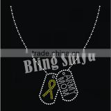 Fashion teen's Necklace design Rhinestone Iron On Transfer Garment Decoration Motifs