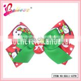 Crazy hot Christmas hair accessories wholesale ribbon bow christmas hair accessories (XH11-4578)