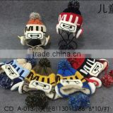 Wholesale Warm Fleece Inside Pompom Ball Tassel Kids Children's Knitted Winter Beanies Hat