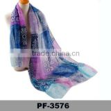 Summer Latest Design Fashion Beautiful Dubai Muslim Scarf Mixcolor Grid Logo Print Silk Scarf
