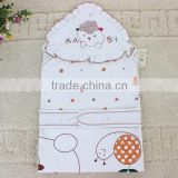 BB-MS-023 Plain White Polka Dot and Cute Cartoon Pattern Baby Hooded Towel