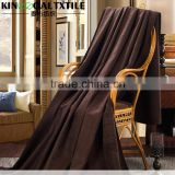 Luxury and Soft Coffee color Double size Silk Blanket