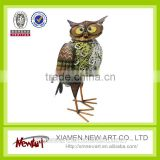 Brand New Metal Wise Owl Garden Ornament