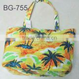 fashion polyester beach bag with mat