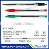 Cheap price stick ball pen, bic roller pen in bulk selling with OEM customized