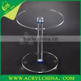 Acrylic fashion small round table movement/Modern plexiglass furniture/PMMA Telephone Table