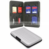 SW1301 Silver Micro SD MicroSD TF Card Holder SDXC Storage Holder Memory Card Case Bag Protector Metal Aluminum