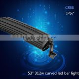 2016 Hottest shenzhen car accessories IP67 53inch 312w curved 4x4 led light bar                                                                                                         Supplier's Choice