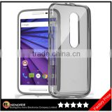 Keno Factory Supply Soft Silicone Transparent Ultra Thin Crystal Clear TPU Case for Motorola Moto G3