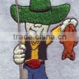 Iron-on or Sew-on for Clothes Cheap Customize100% Embroidery Patches,cartoon Embroidered felt Logo Patch