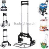 trinodal aluminium alloy portable folding luggage cart