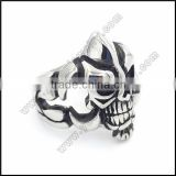 China supplier fashion jewelry hot biker steel skull ring