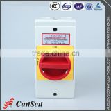 LW30-20 300011 Red yellow pad-lock rotary cam switch with thermoplastic sealed protect box