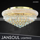 Small golden modern round crystal chandelier