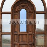 Round Top Wooden Main Doors Design Side Lites Surrounded DJ-S6091M