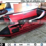 2015 most popular best design inflatable aluminium fishing boat flat bottom