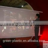 Max 1.25*2.8M transparent projection touch foil film/3d hologram display/touch foil hologram