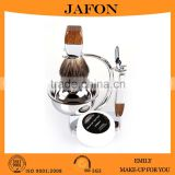 Hot selling wood and metal shaving brushes kits for men                                                                         Quality Choice