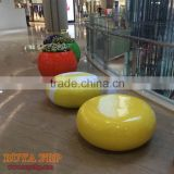 Factory new model design fiberglass furniture resin cobblestone stool child chair leisure couch double chairs
