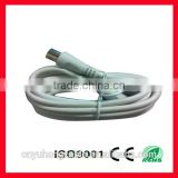 high frequency coaxial cable rg6 with plug