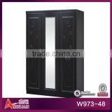 W973-48 fancy black antique MDF cabinet wardrobe closet
