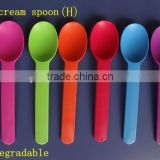 100% biodegradable disposable PLA ice cream spoons yogurt spoons                                                                         Quality Choice