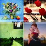Chinese high definition Water Resistant polycotton blend photo printing canvas