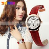 ladies fancy quartz watches bezel japan movt SKMEI brand stainless steel back case water resistant #1083