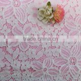 2016 fancy Scalloped white Floral Cord cutwork lace bridal lace trim african net lace fabric