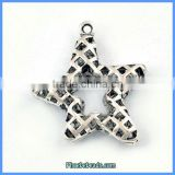 Wholesale Vintage Copper Metal Star Pendant Jewelry Findings PB-P6211