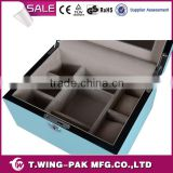 luxury jewelry storage and display, velvet jewelry box&case, with metal key lock and accessories