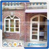 arch pvc window and door Modern interior window design,PVC arch window,white color PVC with grill