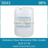 Low price,Diethylene glycol monobuthyl ether/ 2-(2-Butoxyethoxy)ethyl acetate,CAS NO.124-17-4