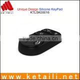 Custom design silicone rubber button keypad for remote controller