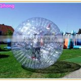 Hot sale!!! Transparent inflatable zorb ball, PVC ball, human hamster body zorbing ball Image