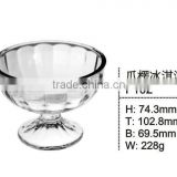 high quality mini clear round dessert glass cup