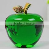 2016 crystal glass green apple paperweight wholesale