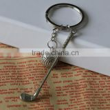Metal golf ball keychain for promotion ,gift