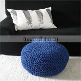 Crochet pouf ottoman Hand crochet Knitted Cotton Pouf                                                                         Quality Choice