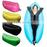 Outdoor Inflatable Lounger Hangout Nylon Fabric Sleeping Compression Air Bag Beach Sofa 330-440lb Bearing
