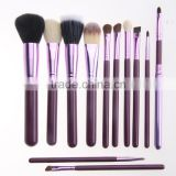 Pro 12Pcs Makeup Brushes Set With Holder Cup Case Beauty Eyeshadow Powder Blusher Cosmetic Brush Tools Kit