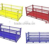 Multi use collapsible wire mesh container/pallet/box/cage
