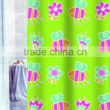 Kid Polyester Shower Curtain with Polyresin Hooks HBS013