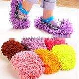 Hot sale polyester cleaning slipper shoes/ mop floor wipe dust slipper /floor Cleaner Cleaning Slippers Cover
