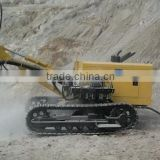 mobile mining rock water well crawler drilling rig machine with air compressor